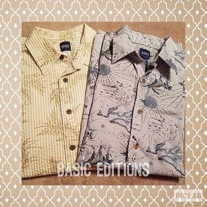 2 mens casual button downs